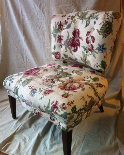 chair after reupholstering