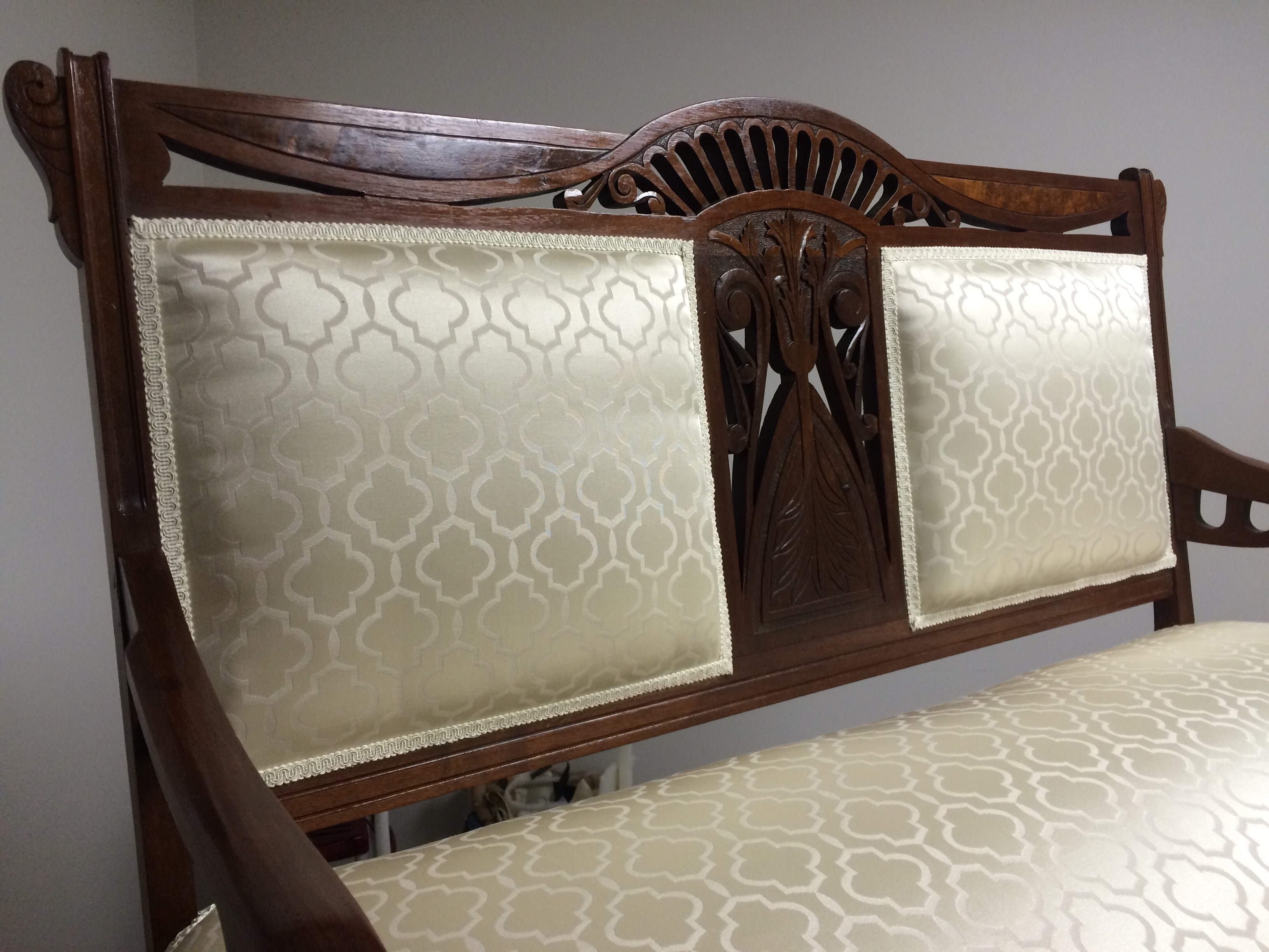 Large antique settee